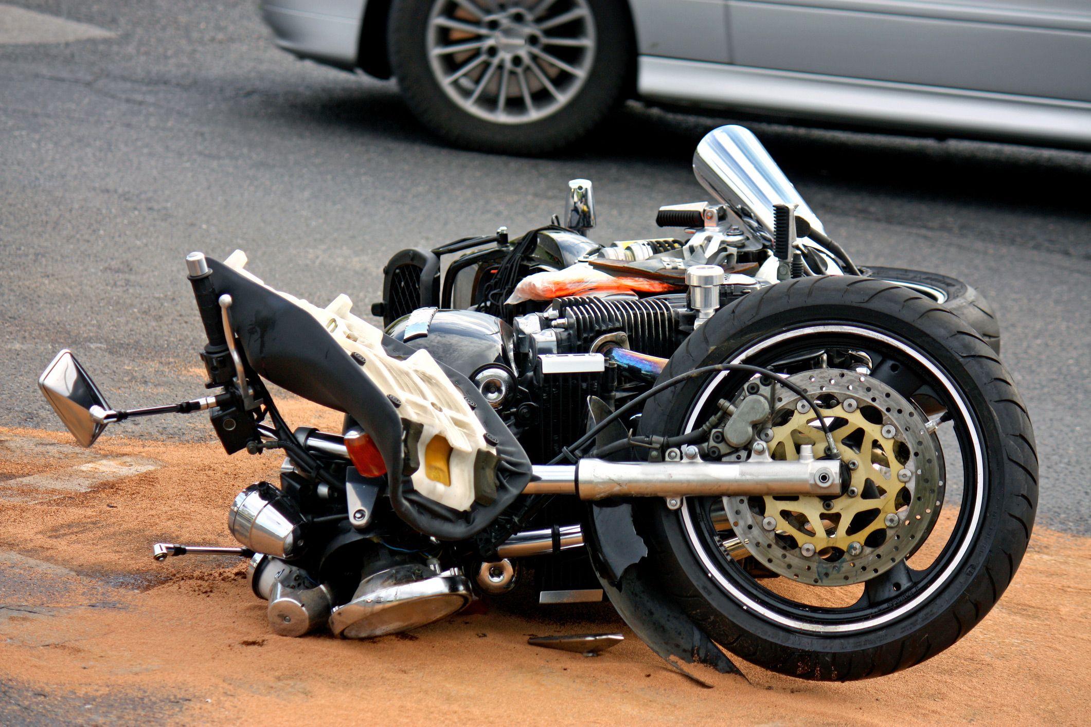 Crashed Motorcycles For Sale